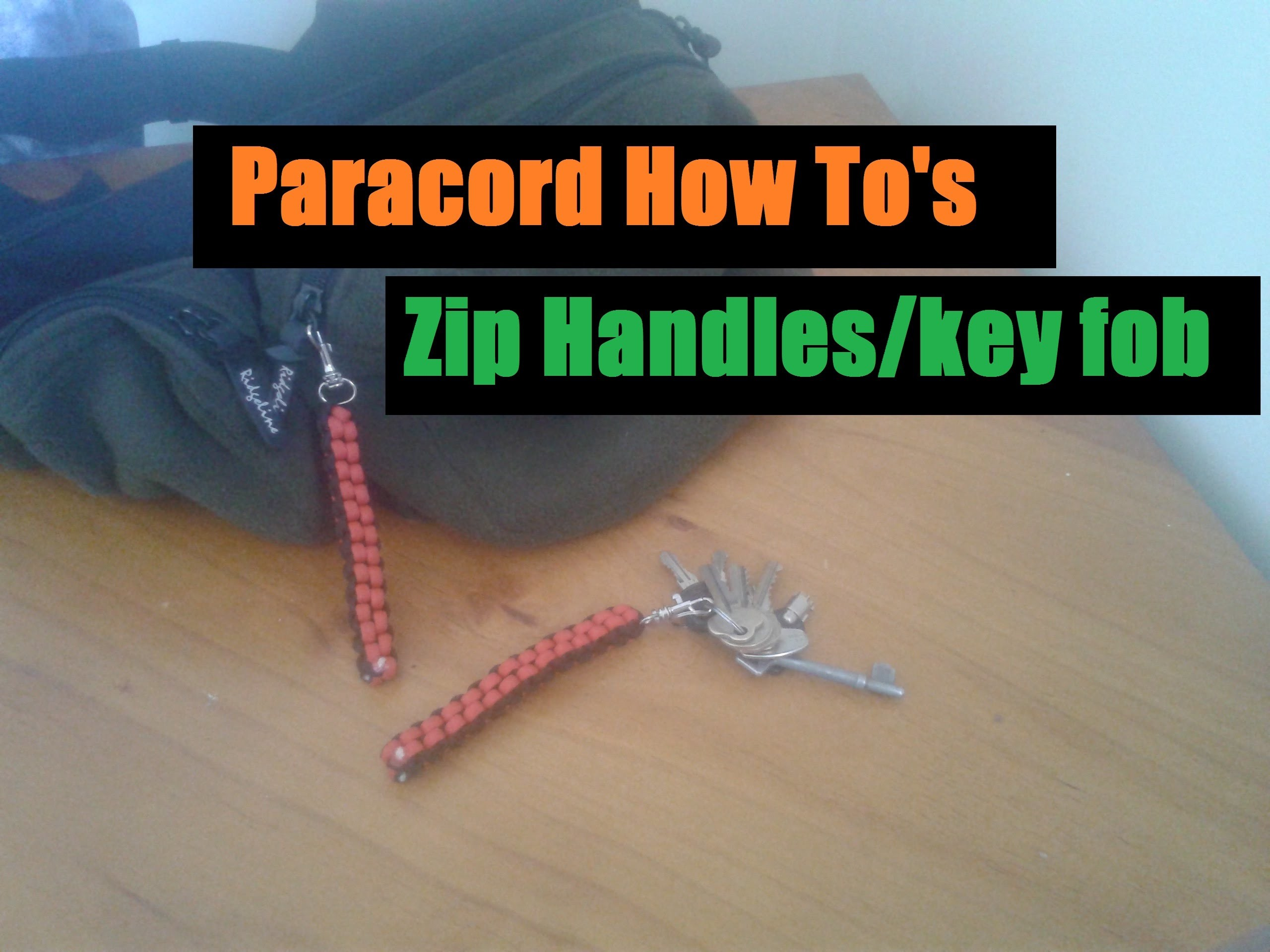 How To Tie a paracord zip handle or key fob