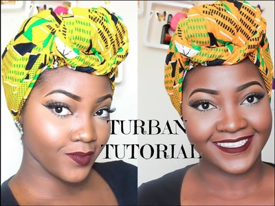 HOW TO TIE A QUICK AND EASY TURBAN SCARF