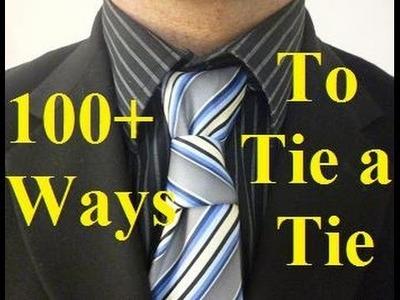 How to Tie a Tie Half HourGlass Necktie Knot