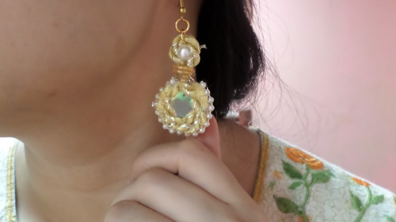 Make a Pretty Beaded Cord Earring - DIY Style - Guidecentral