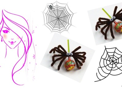 MORENA DIY: HOW TO MAKE SPIDER LOLLIPOPS