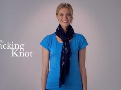 Talbots How To Tie A Scarf: The Hacking Knot