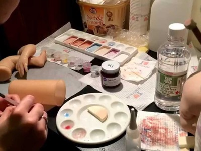 Tutorial - How I go about painting my silicone doll kits. This is just one of many layers.