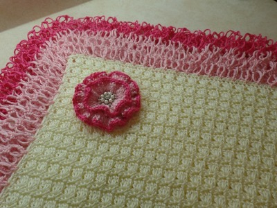 #Crochet Beautiful Lacy Baby Blanket #TUTORIAL