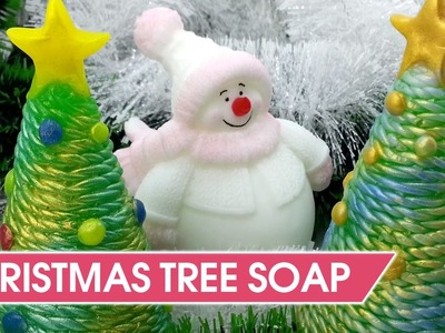 DIY Christmas Tree Soap idea - How to make custom molds