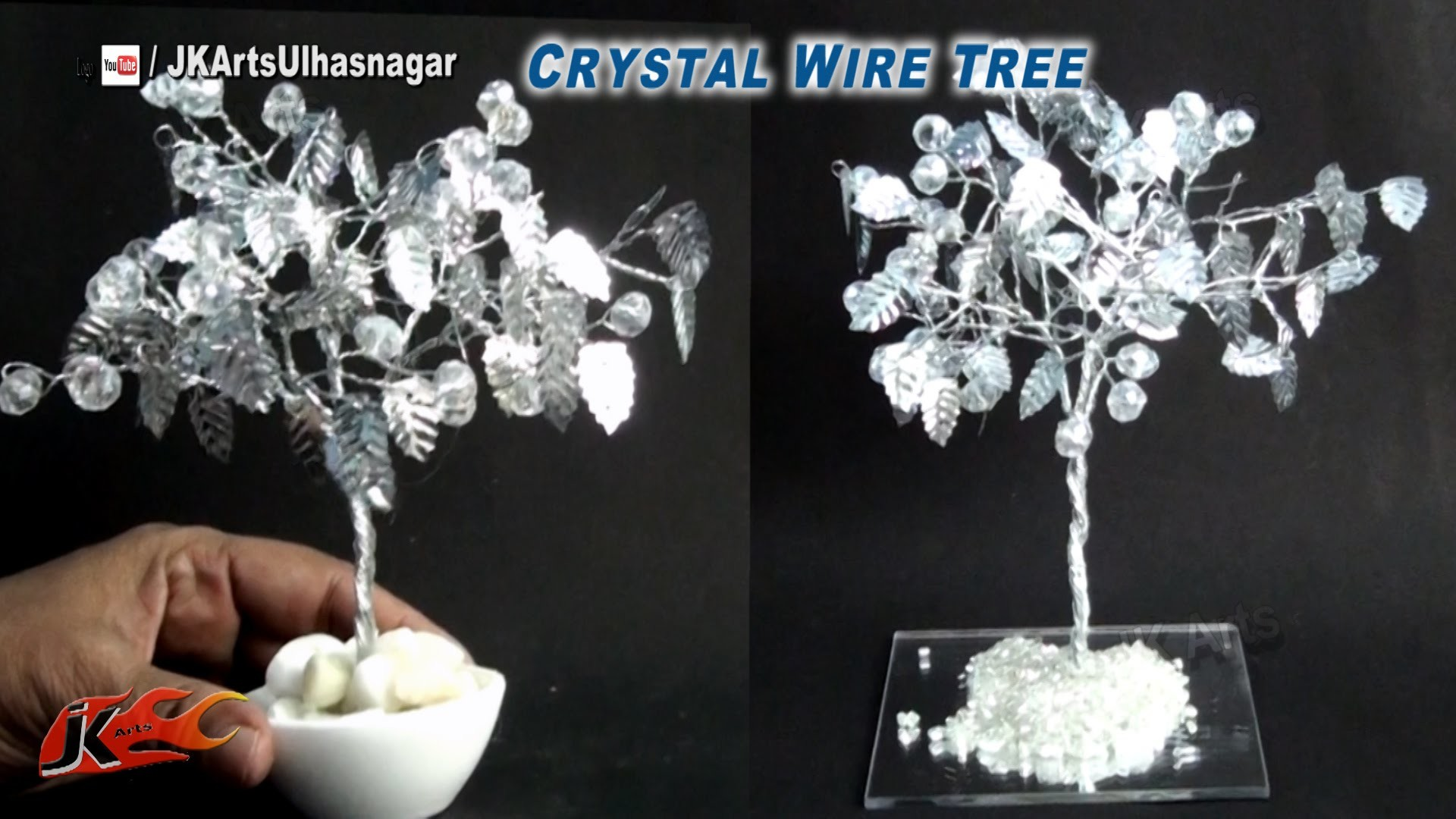 DIY Crystal Beads Wire Tree | How to make | JK Arts 833
