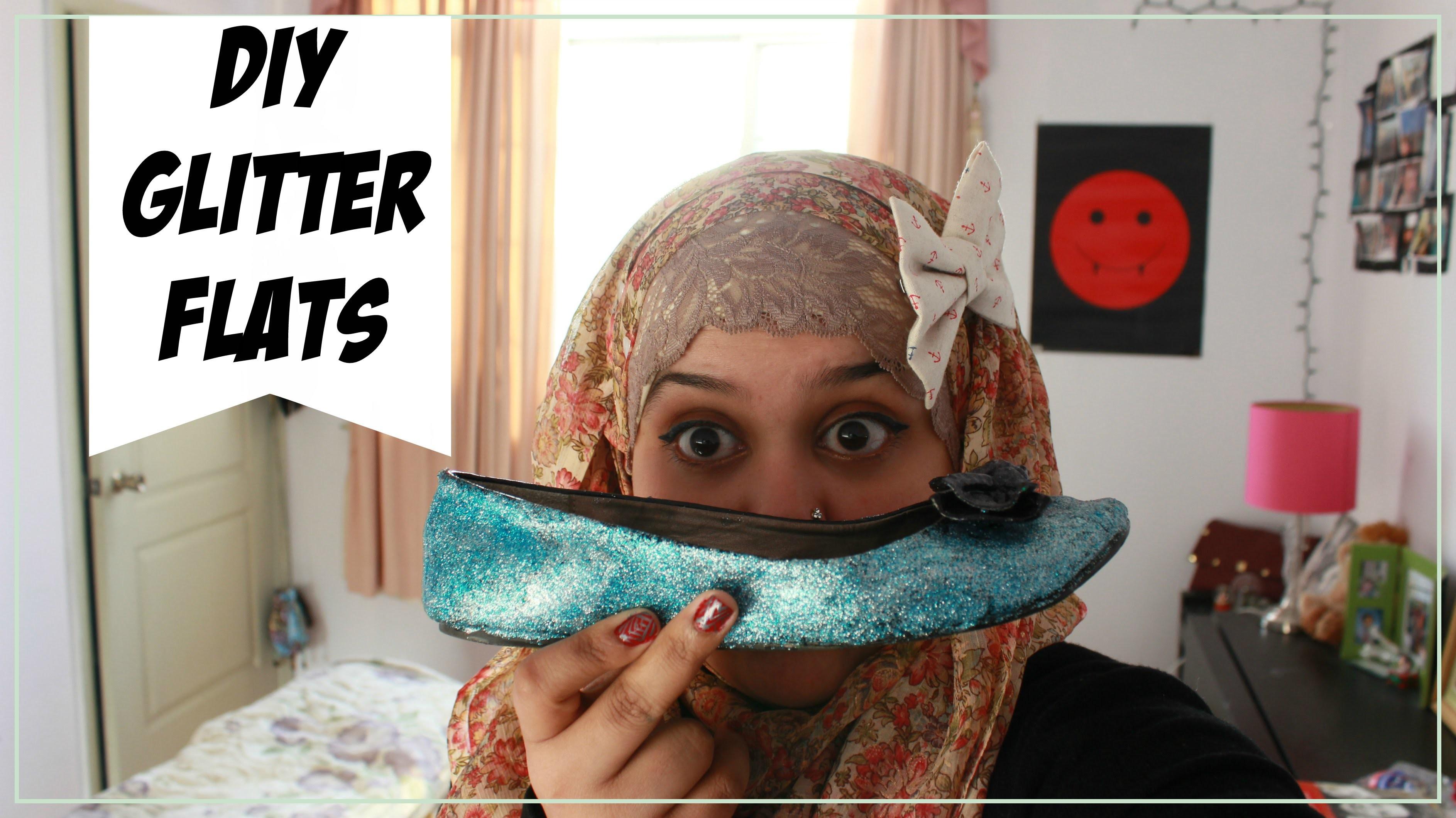 ✂ DIY Glitter Flats