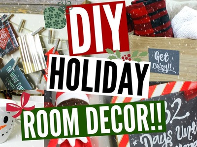 DIY HOLIDAY ROOM DECOR!! Cute & Easy Ways To Decorate Your Room!!