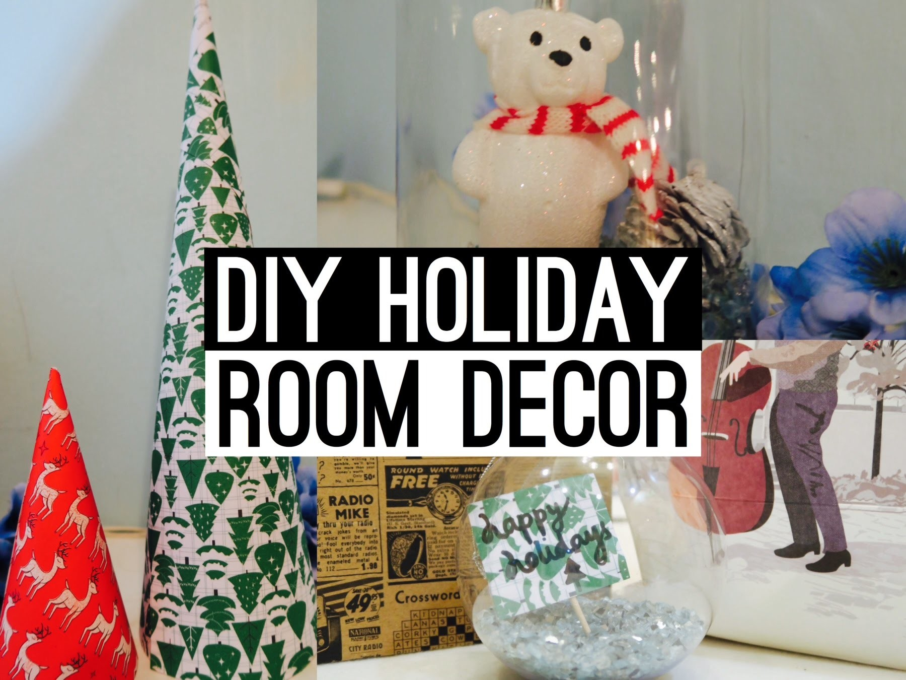 DIY Holiday Room Decor | Easy Christmas Decorations