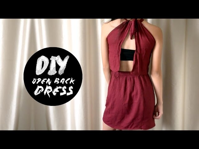DIY Maxi Skirt into Open Back Dress | Injoyy