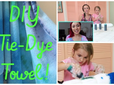 DIY TIE-DYE BEACH TOWEL! | WITH CraftyAmy93!