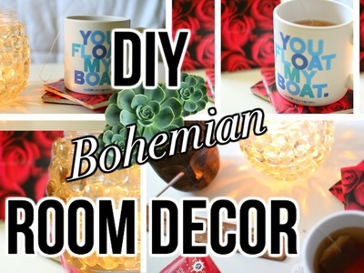 DIY Tumblr inspired Room Decor : Bohemian style