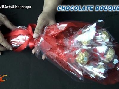 DIY Valentine's Gift Idea | Ferrero Rocher Chocolate Bouquet | How to make | JK Arts 837