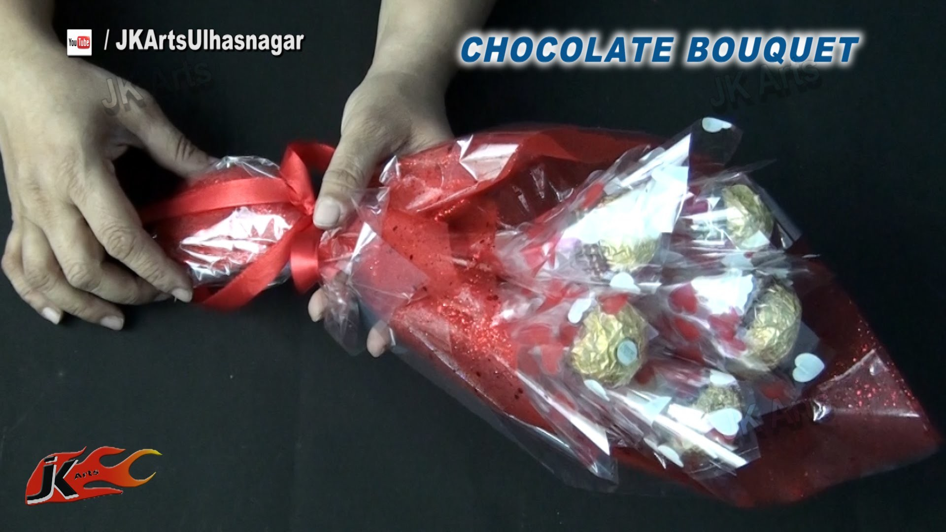 DIY Valentine's Gift Idea | Ferrero Rocher Chocolate Bouquet | How to make | JK Arts 837