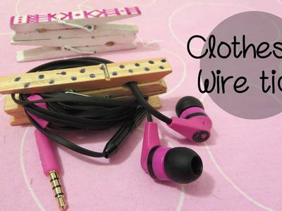 Easy and Unique Clothespin Cable Tidy | Sunny DIY