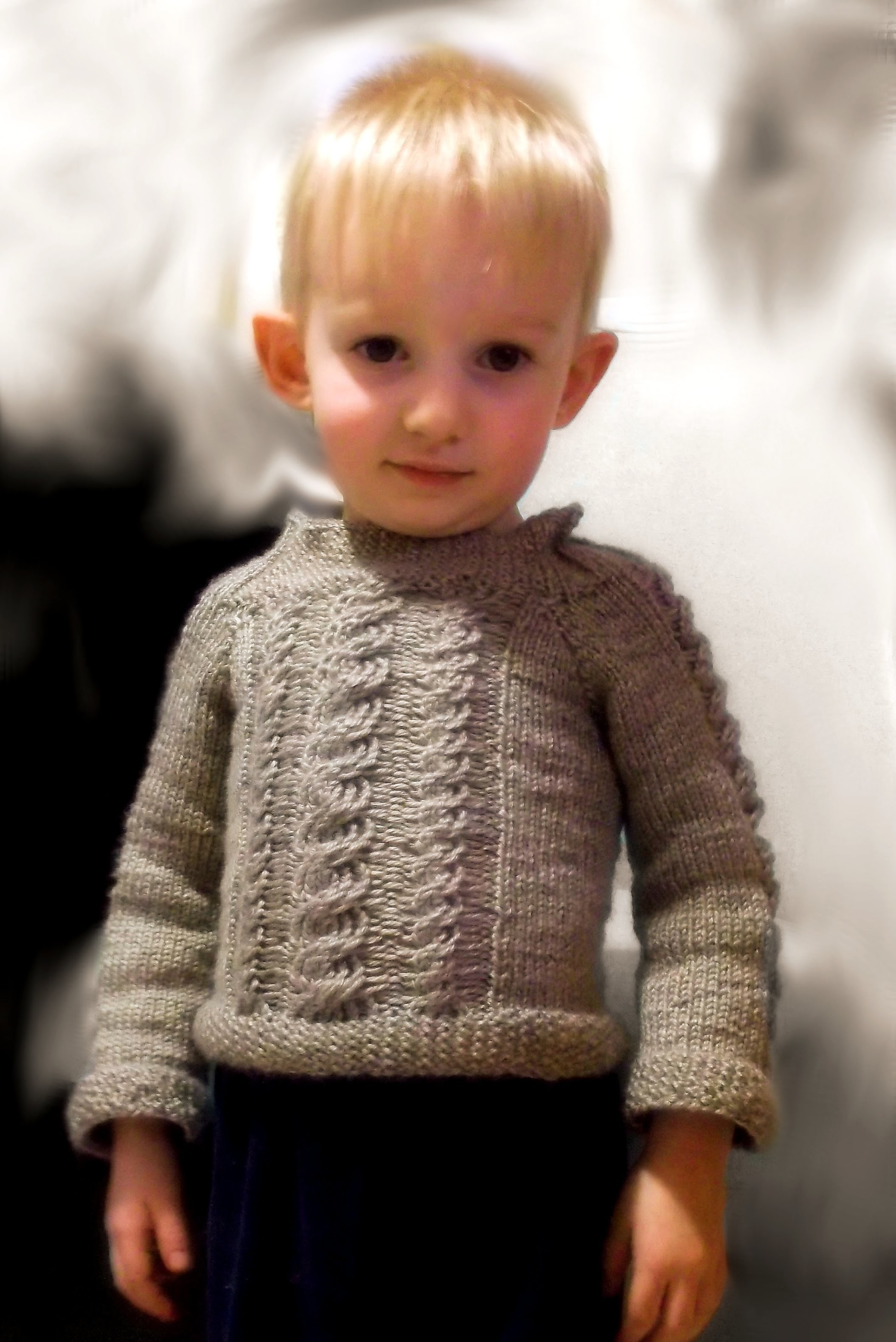 How to Loom Knit a Multi Cabled Toddler Sweater