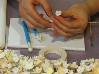 How to make a gumpaste flower spray