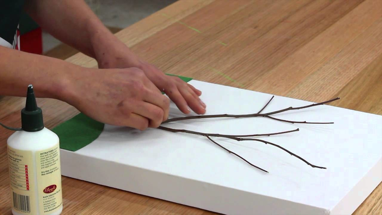 How To Make A Twig Tree Canvas - DIY At Bunnings