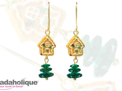 How to Make Christmas Gingerbread House Earrings