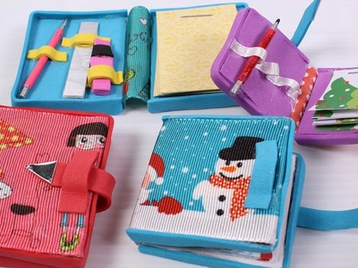 How to make miniature Doll Diary: doll school supplies