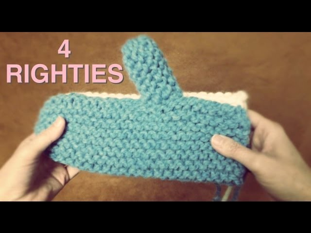 MAKE SIMPLEST MITTENS EVER -  Knitted On Straight Needles (4 Righties)