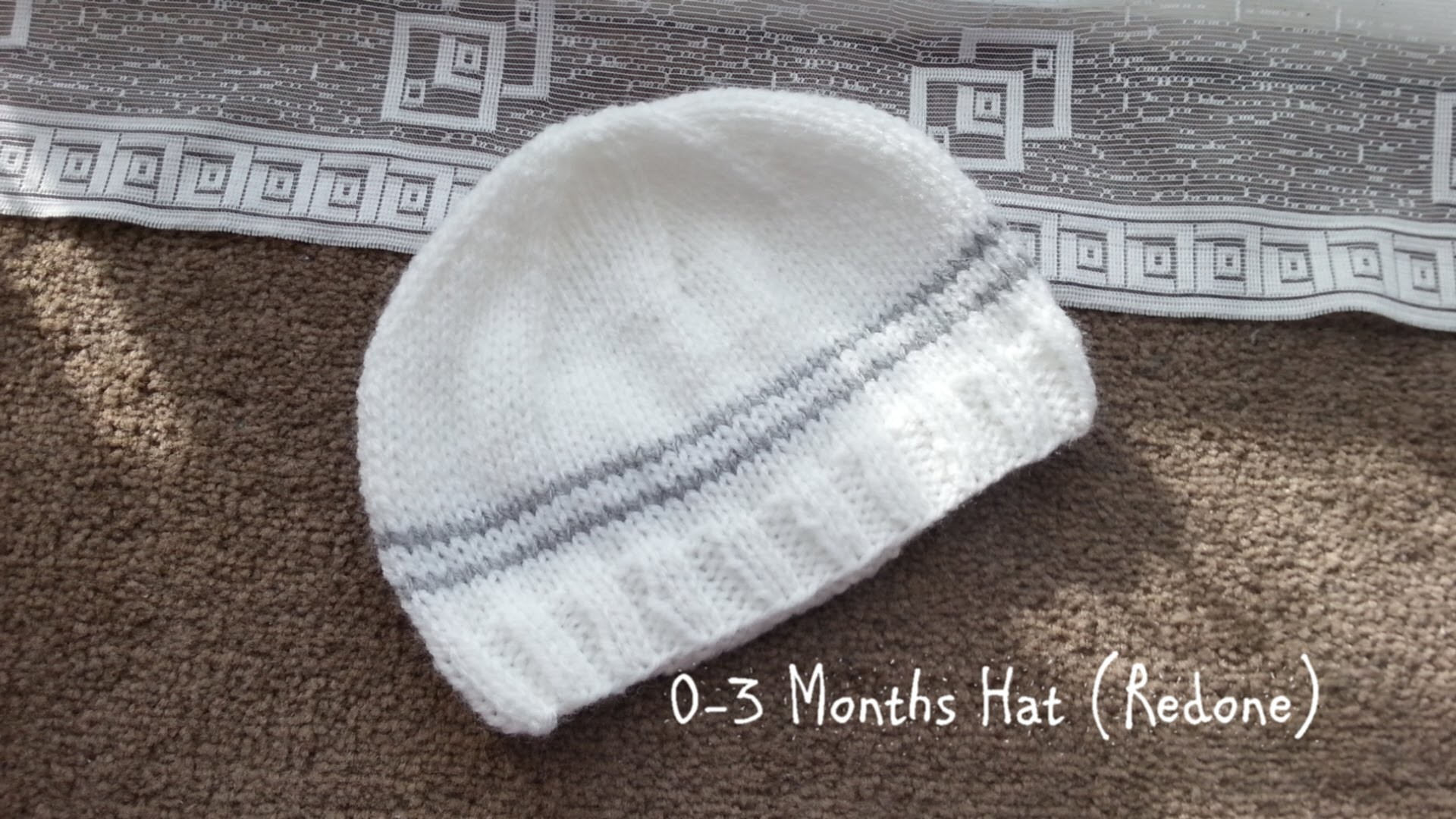 Basic Knitted Hat 0-3 months | Redone