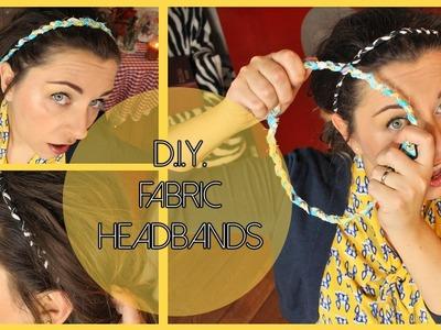 D.I.Y. No Sew Fabric headbands - Fasce per capelli fai da te
