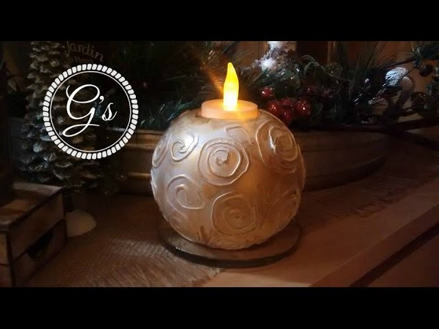 D.I.Y revamping, upcycling an old tea light candle holde