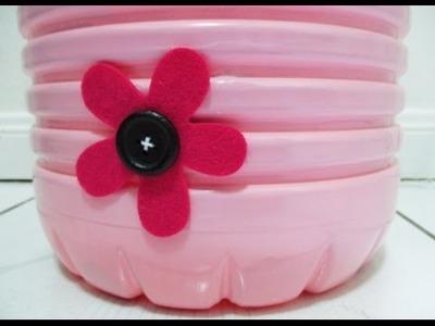 DIY : #110 Floral Dustbin ♥