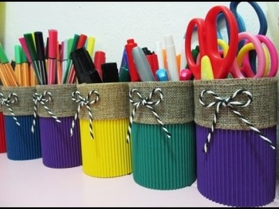 DIY : #117 COLORFUL Stationary Holder ♥
