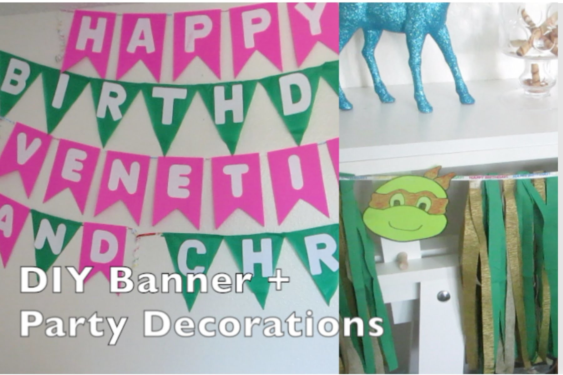 (DIY) Banner + Party Decorations - AlyssaFaye