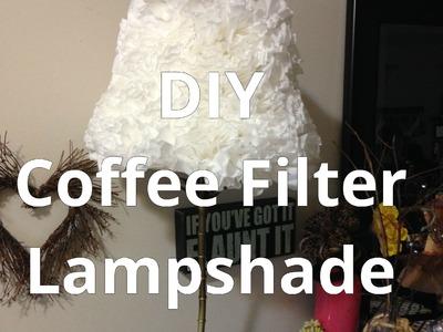 DIY Coffee Filter Lampshade