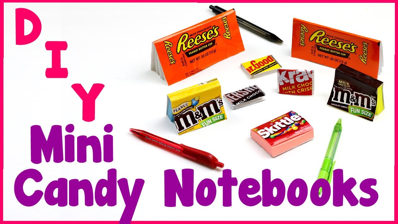 DIY Crafts: 7 Easy DIY Miniature Candy Notebooks  - Cool & Unique Craft Tutorial