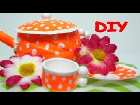 DIY Crafts: How to Make The Cute Teapot and Cup Toys for Kids Recycled Bottles Crafts