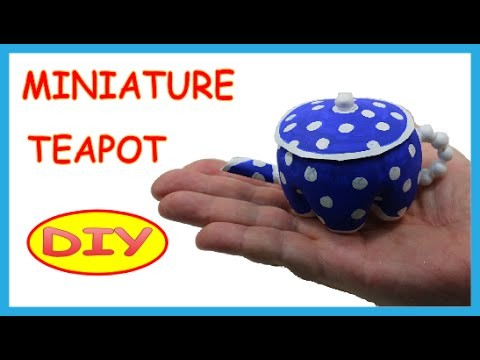 DIY Crafts: Plastic Bottles Miniature Teapot -  Recycled Bottles Crafts How to Tutorial