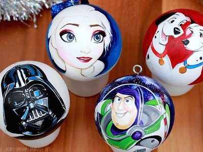 DIY DISNEY CHRISTMAS Decorations - CUTE DIY IDEAS - Ornaments