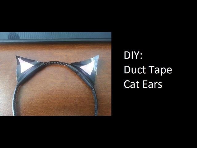 DIY: Duct Tape Cat Ears