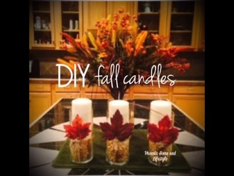 DIY Fall Candles by Phoenix Home and Lifestyle with Acacia Booth