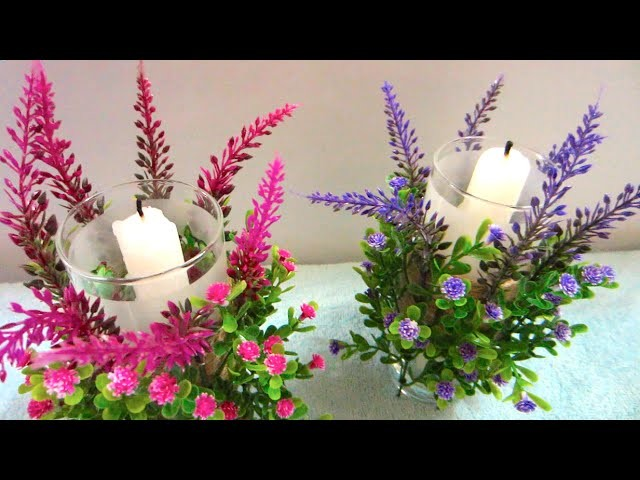 DIY Flower Candle Holders