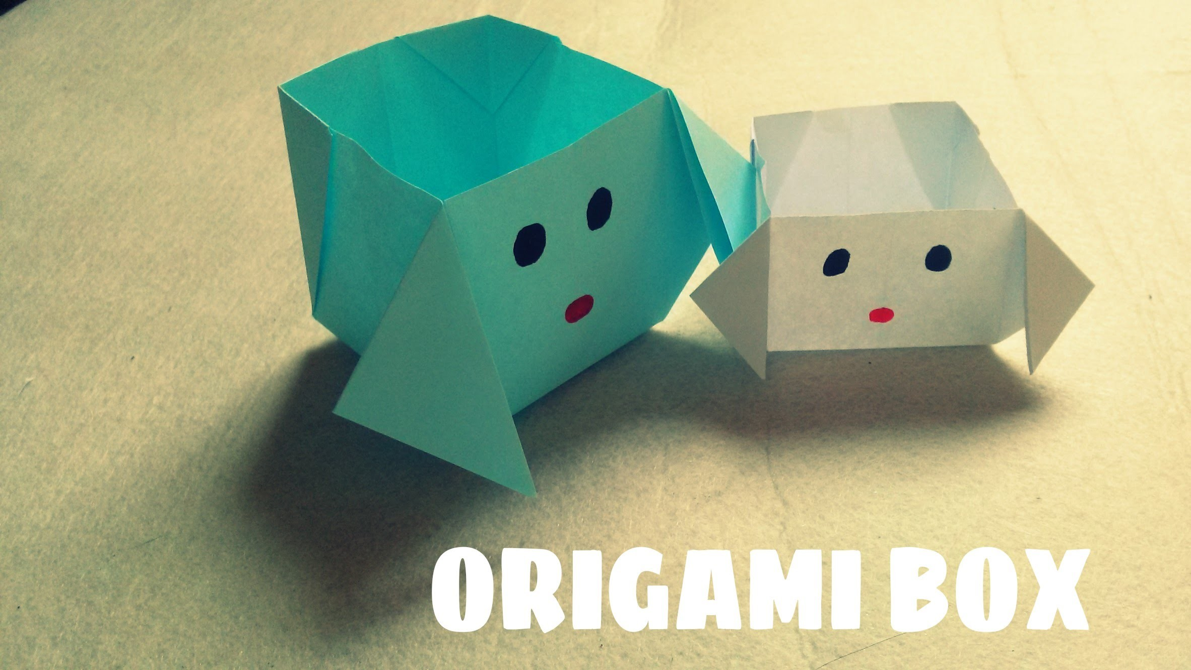 DIY - Origami Dog Box - Paper Dog Box