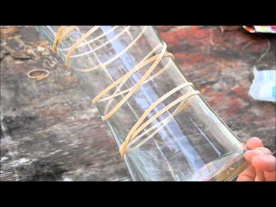 DIY Rubber Band Vase- PINTEREST WIN OR FAIL!