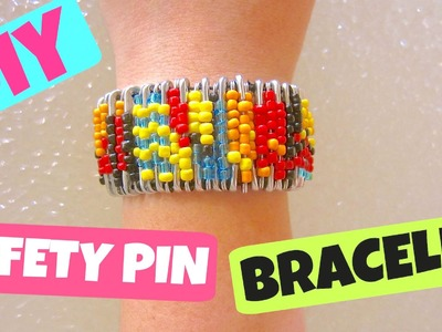 DIY Safety Pin Bracelet