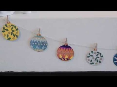 DIY: Templates with Christmas ornaments by FrkHansen.dk and Søstrene Grene