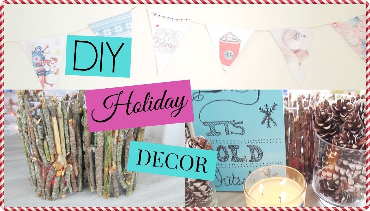 DIY Tumblr Holiday Room Decor! Easy & Cheap Decorations for Your Room!
