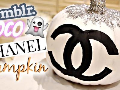 DIY Tumblr Room Decor Halloween Edition (Chanel Pumpkin).