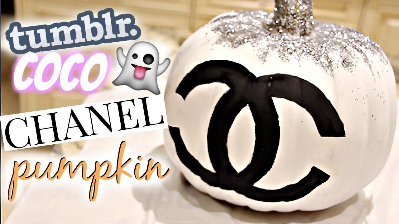 DIY Tumblr Room Decor Halloween Edition Chanel Pumpkin