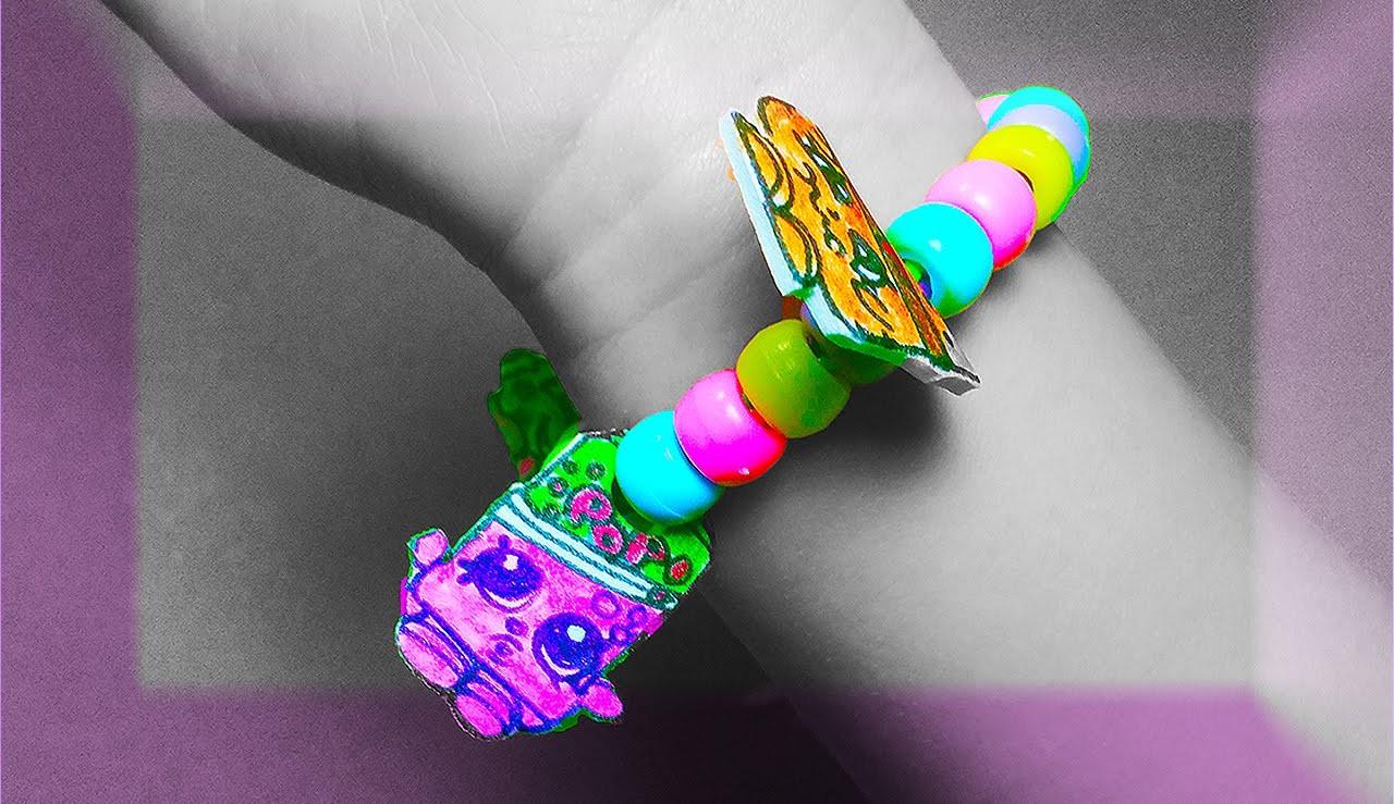 How to Make Cute Shopkins Kids Jewelery: Charm Bracelet, Necklace & Hairband!