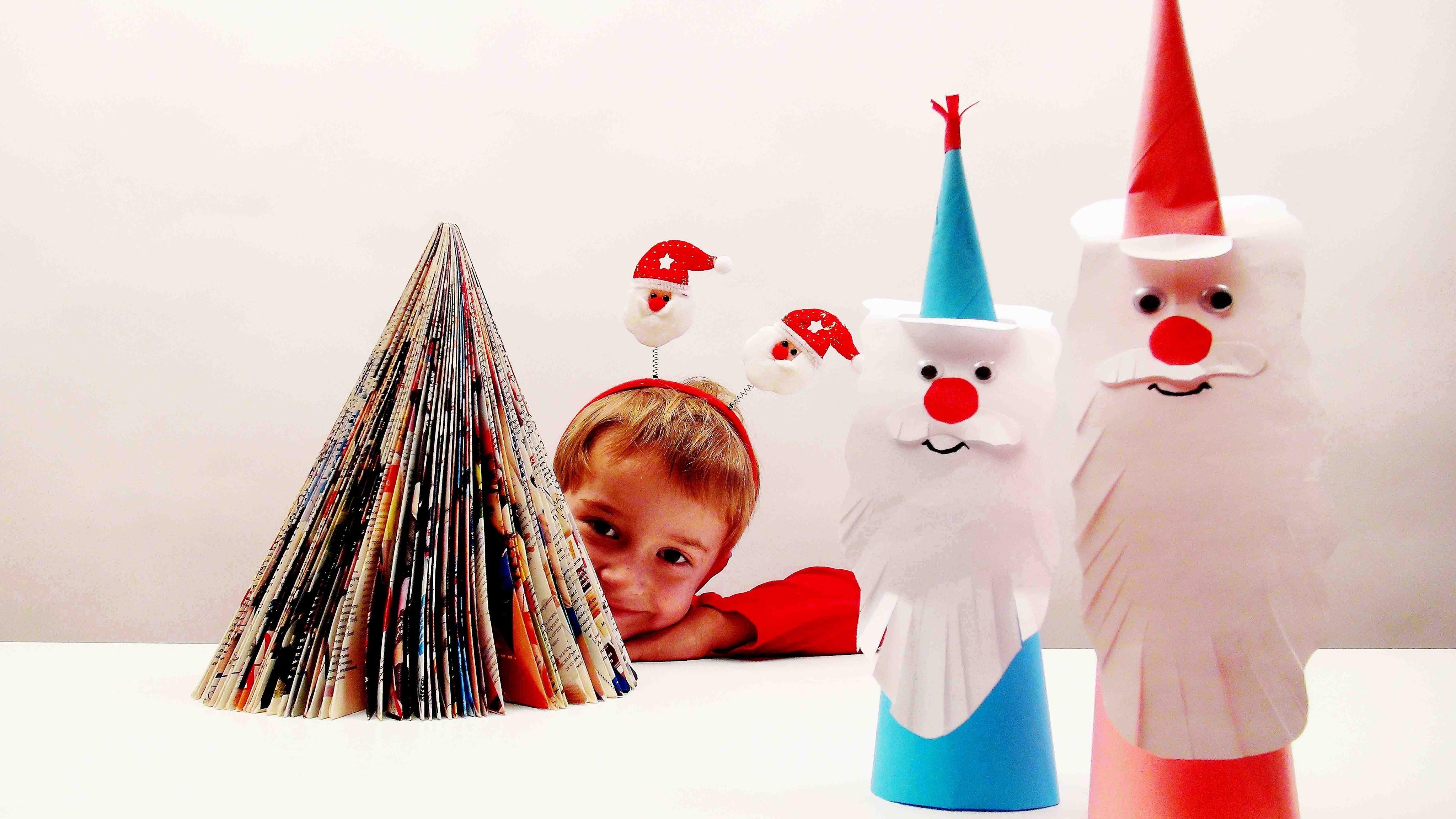 Master classes. DIY - Do it yourself. Paper Santa Claus.