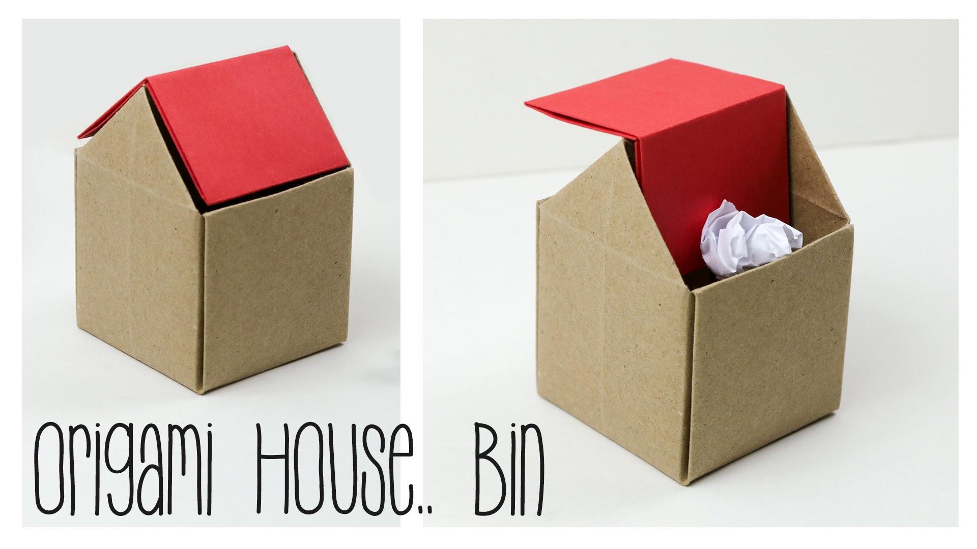 Как сделать из бумаги мусорку маленькую
