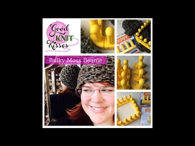 Zippy Hat Loom Along Bulky Moss Beanie